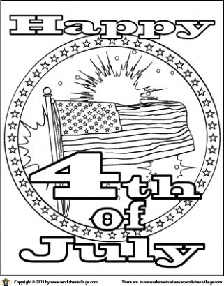 321x410 Happy Of July Coloring Page