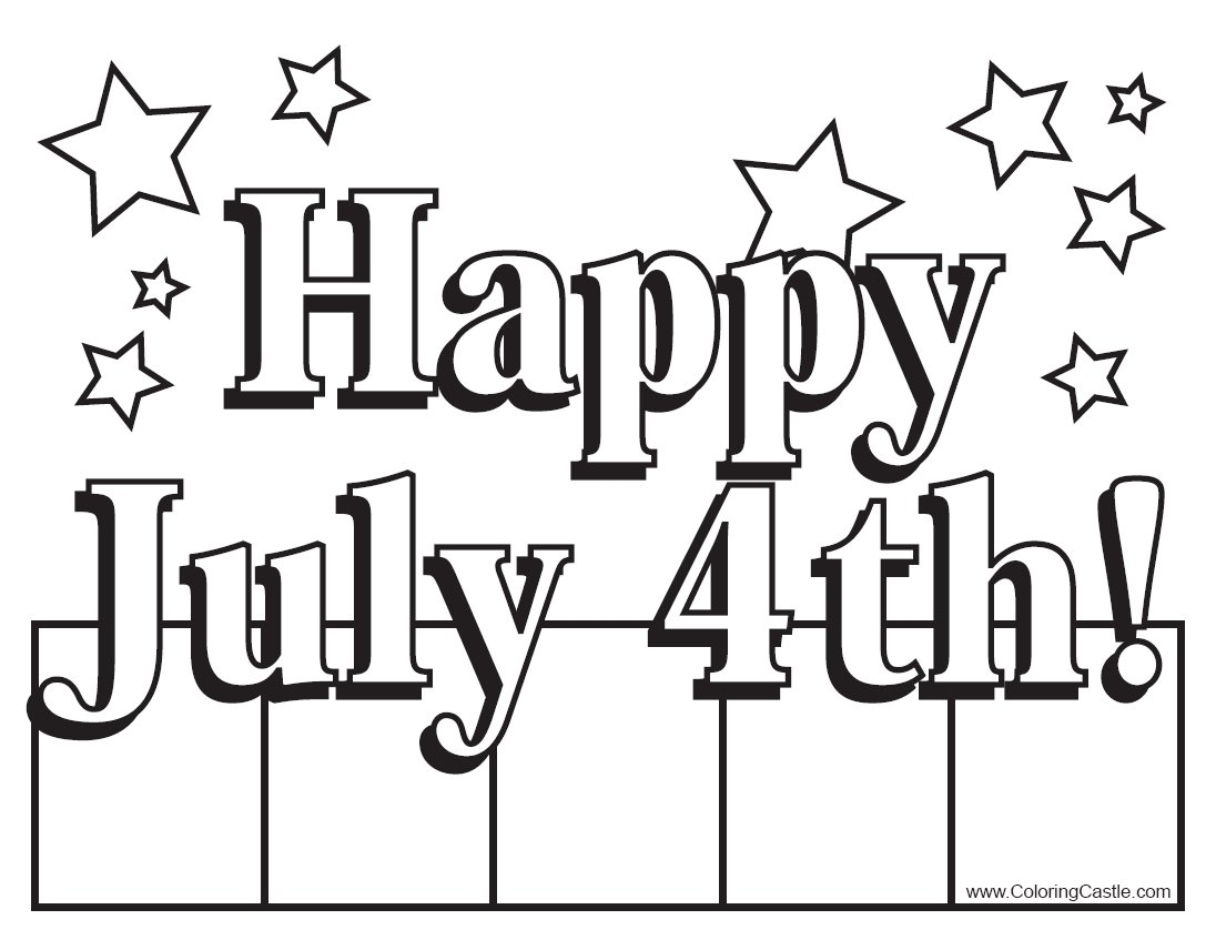 1096x847 Happy Fourth Of July Coloring Pages