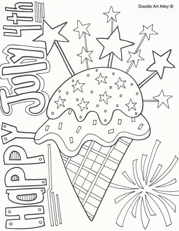 618x800 Independence Day Coloring Pages