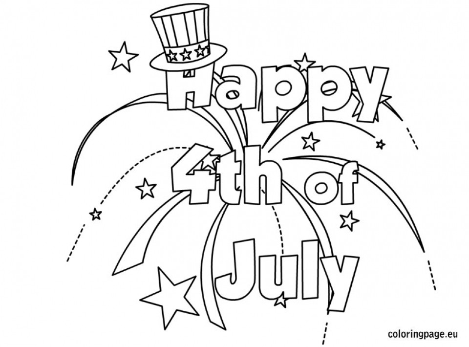 Happy Fourth Of July Coloring Pages At Getdrawings Com Free For