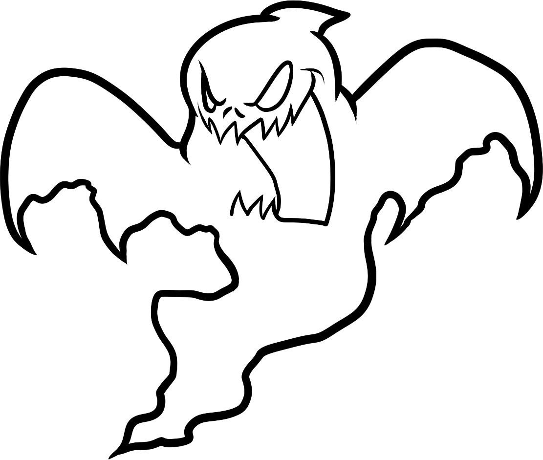 1111x941 Ghost Coloring Pages