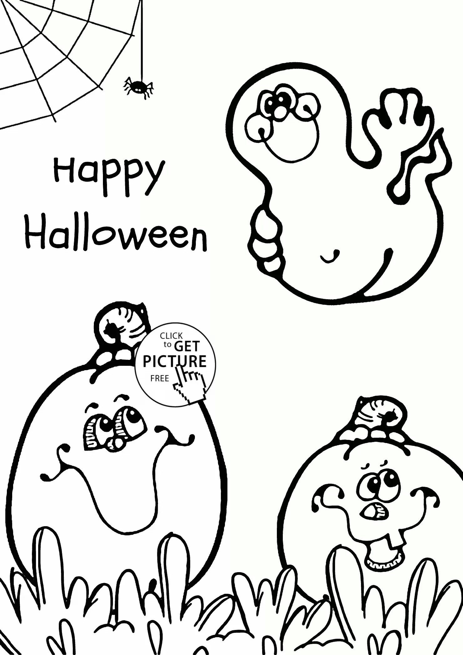1480x2095 Cute Halloween Ghost Coloring Pages Free Design Templates