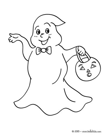 363x470 Ghost Coloring Pages Printables To Color Online For Halloween