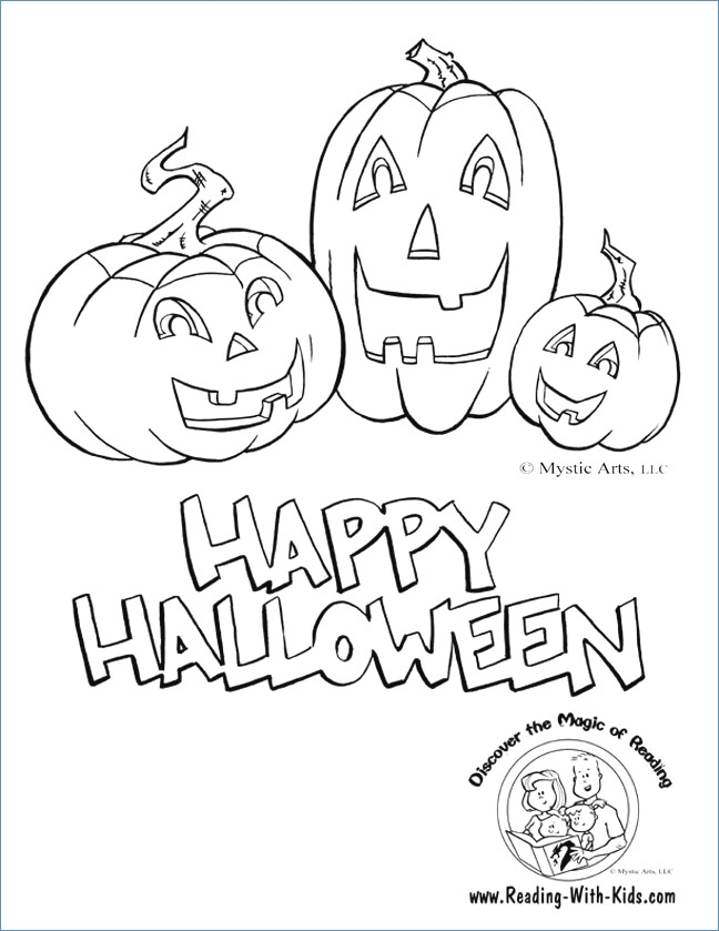 648x839 Ghost And Pumpkin Printable Halloween Coloring Pages