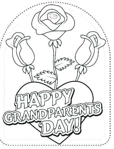 385x501 Coloring Pages Coloring Page Grandparents Day Coloring Page