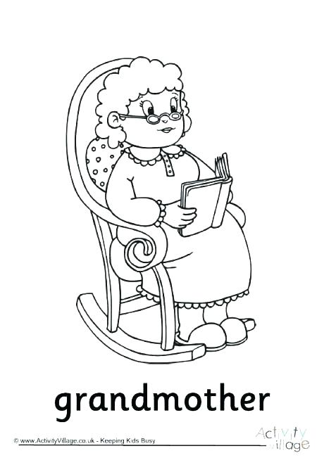 460x651 Grandparents Coloring Page Grandma Coloring Pages Happy