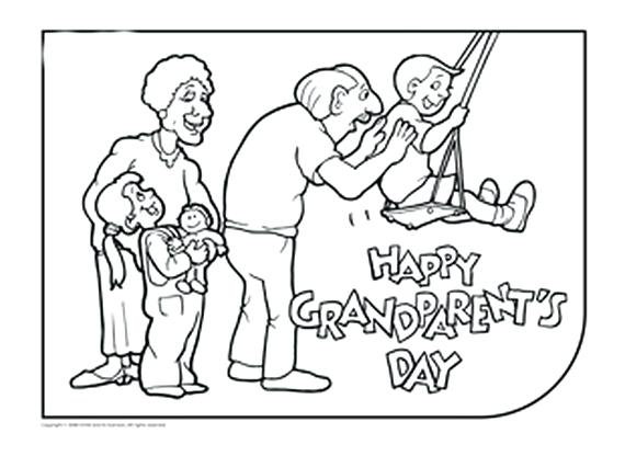 570x416 Grandparents Day Coloring Pages Happy Birthday Grandma Coloring
