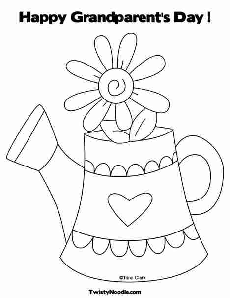 468x605 Happy Grandparents Day Coloring Page Free Printable Pages Fancy