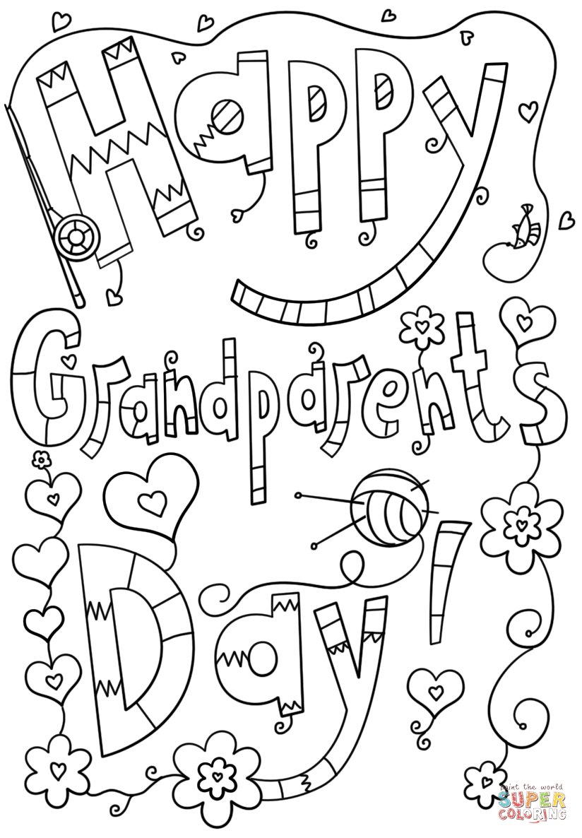 824x1186 Happy Grandparents Day Doodle Coloring Page Free Printable Best