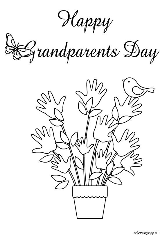 575x822 Happy Grandparents Day Coloring Page Grandparents Day