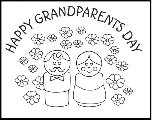 518x408 Best Grandparents Day Coloring Pages Free Printable Free