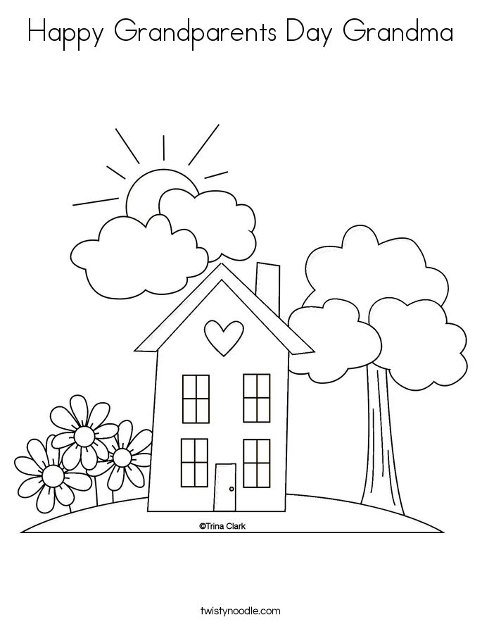 685x886 Best Happy Grandparents Day Grandma Coloring Page Free