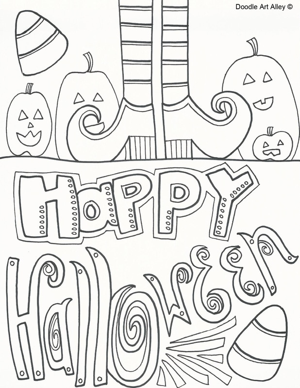 618x800 Halloween Coloring Pages