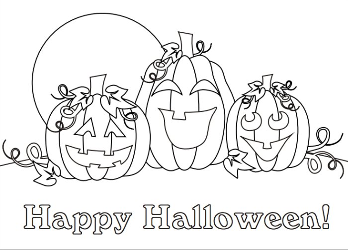 700x503 Happy Halloween Coloring Page