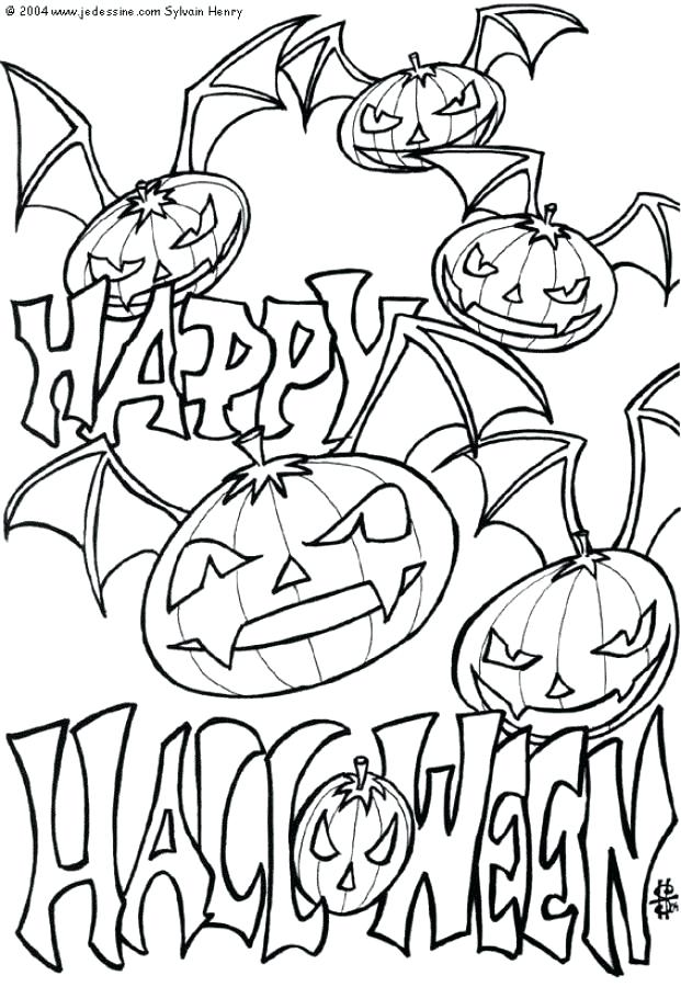 621x900 Coloring Happy Halloween Coloring Pages For Kids Witch Happy