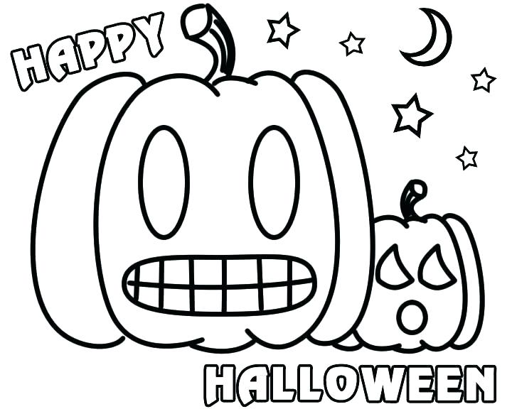 720x576 Halloween Coloring Pages Free Printable