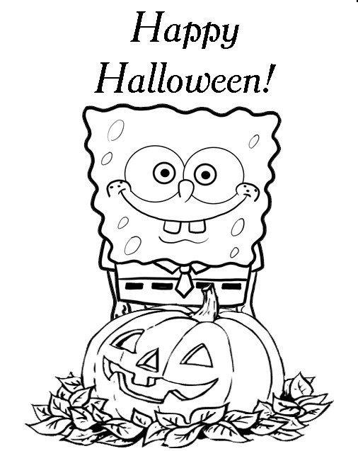 506x637 Spongebob Halloween Coloring Pages Spongebob Printable Halloween