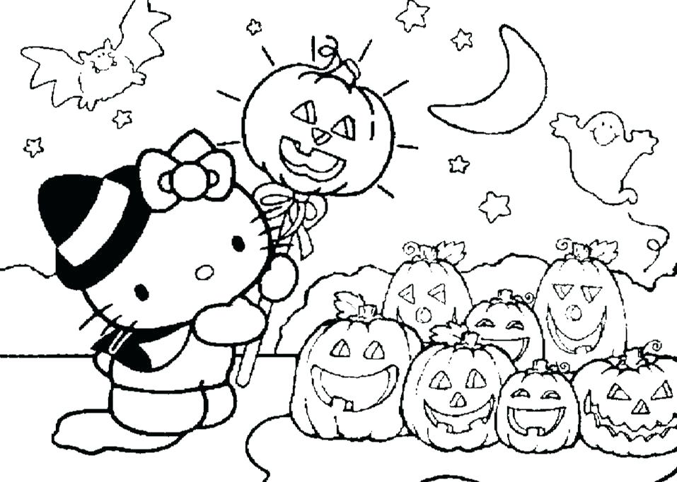 957x682 Halloween Coloring Pages Printable Scary Drawing Pages Unique