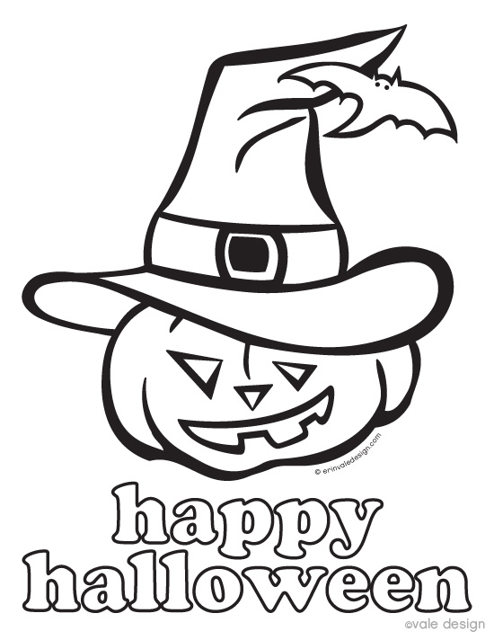 550x712 Happy Halloween Coloring Pages