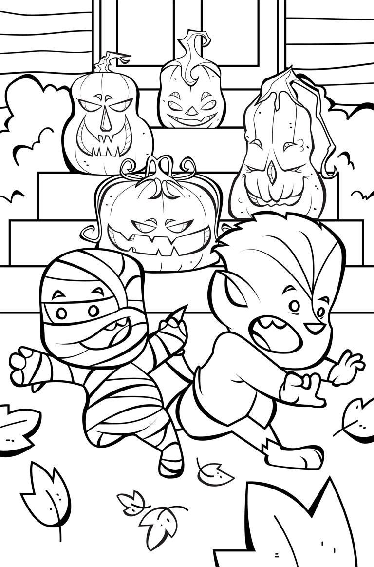 768x1163 Happy Halloween Coloring Pages