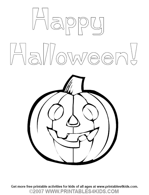 590x768 Happy Halloween Coloring Pumpkin Printables For Kids Free Word