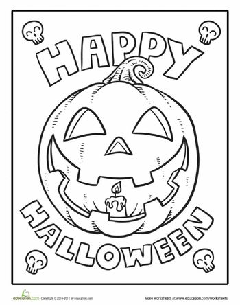 350x444 Happy Halloween Pictures To Color Happy Halloween Coloring Sheet
