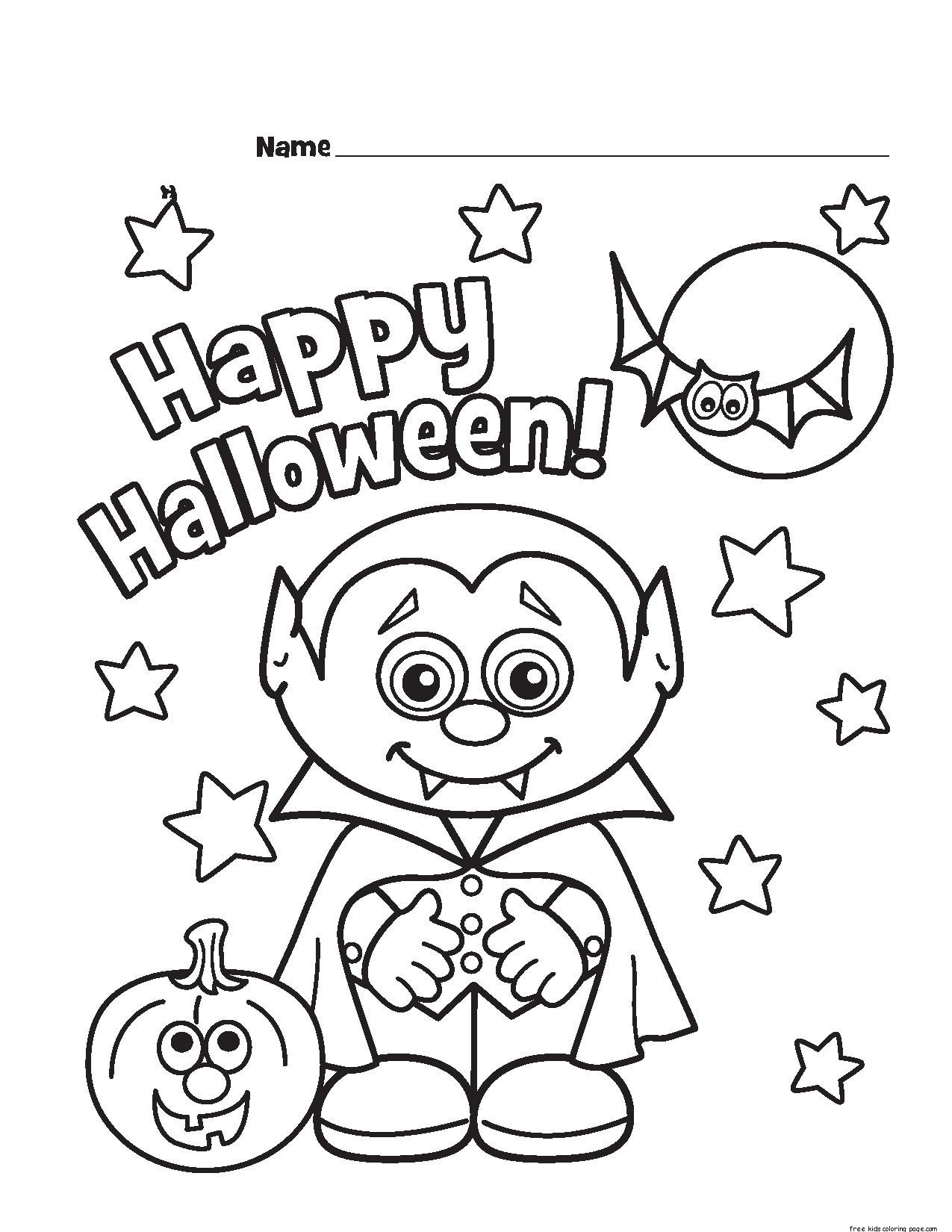 1275x1650 Happy Halloween Coloring Pages Coloringsuite To Print Free Cute