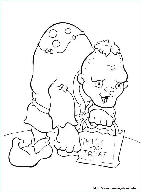585x794 Scary Cat Happy Halloween Coloring Pages