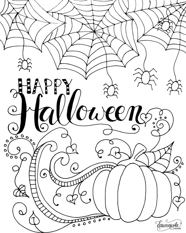 600x748 Happy Halloween Coloring Page Free Halloween Coloring Pages