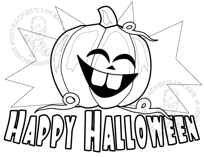 792x612 Free Happy Halloween Coloring Page Skybacher's Locker