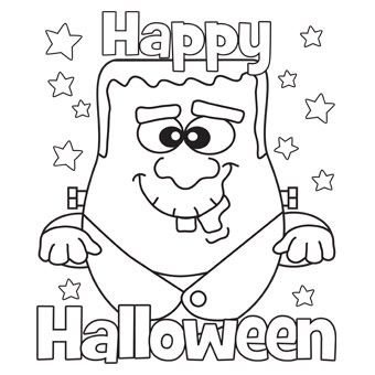 340x340 Free Printable Halloween Coloring Pages For Kids