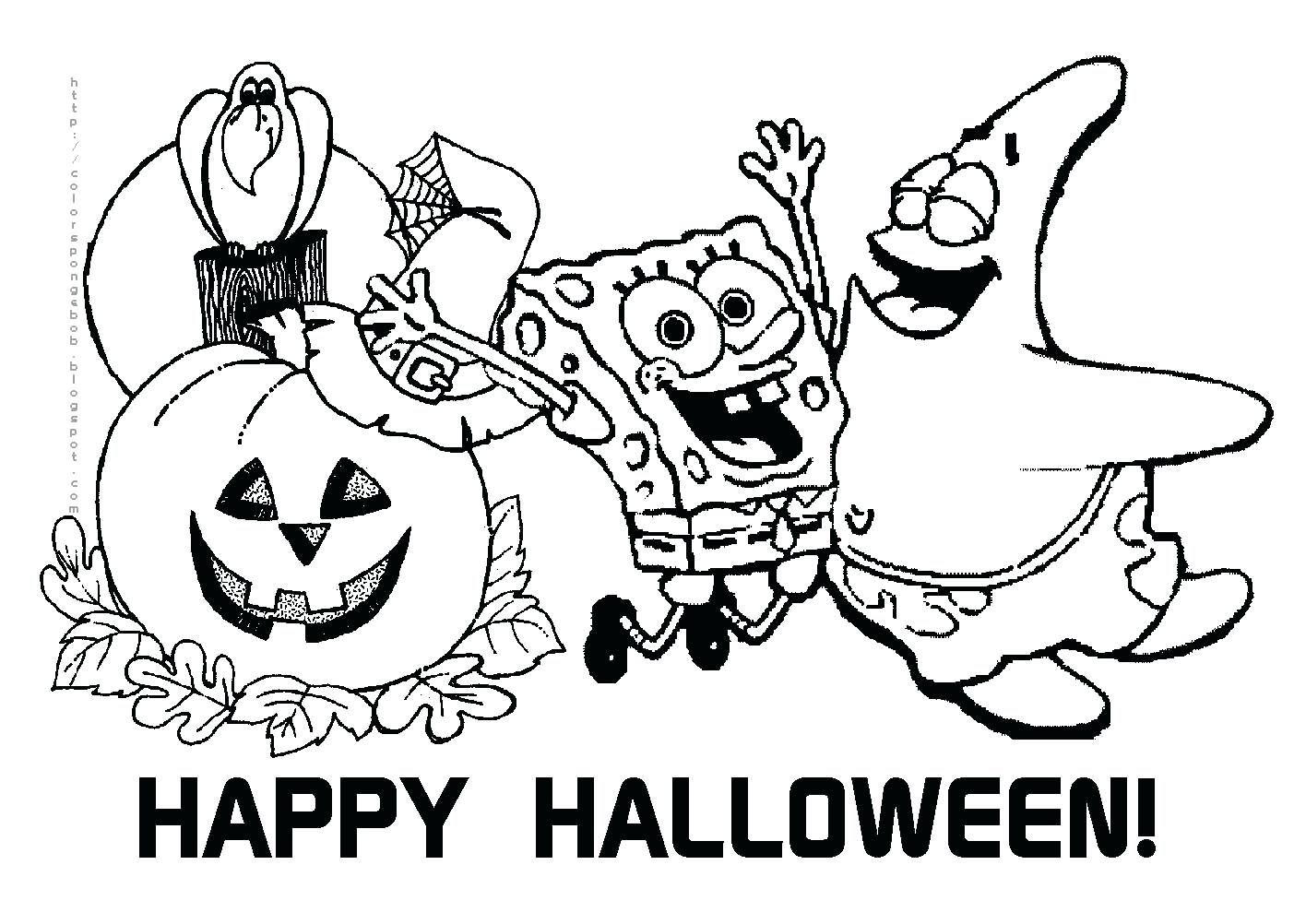 1403x1002 Happy Halloween Coloring Pages Printable Image To Print Archives