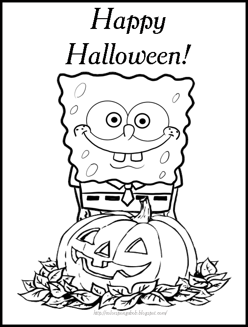 506x667 Printable Halloween Coloring Pages Spongebob Coloring Pages