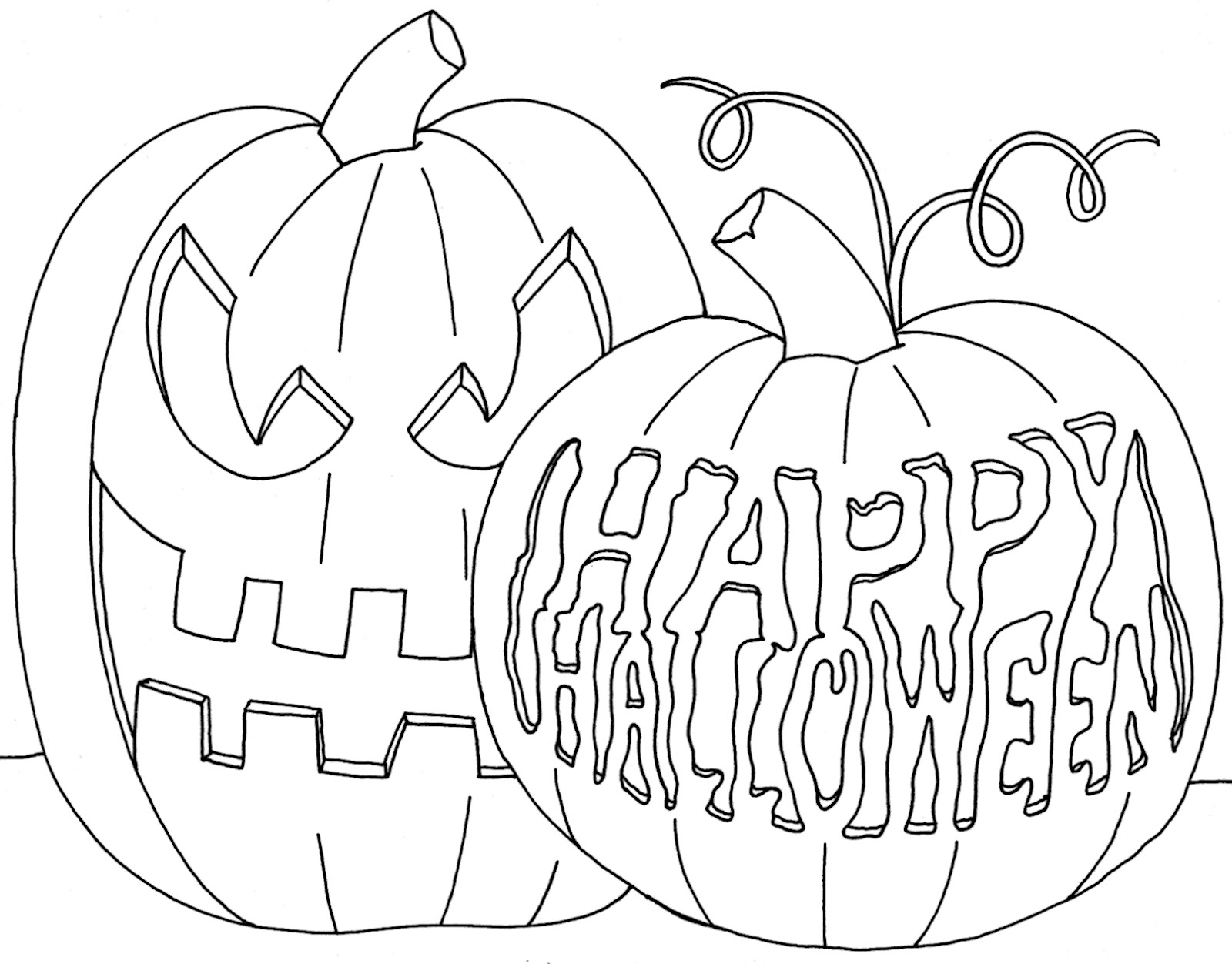 1600x1252 Cool Happy Halloween Coloring Pages Printabl On Autumn Or Fall