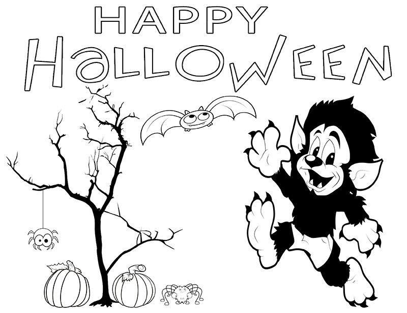 800x617 Halloween Printable Coloring Pages