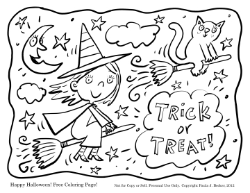 360x278 Happy October Coloring Page