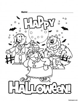 262x338 Printable Happy Halloween Coloring Pages