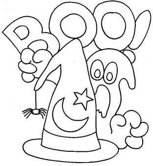 312x338 Printable Happy Halloween Ghosts Coloring In Sheet