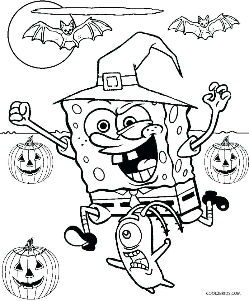800x967 Happy Halloween Coloring Pages Icontent