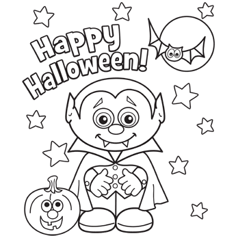 345x345 Printable Coloring Pages Halloween