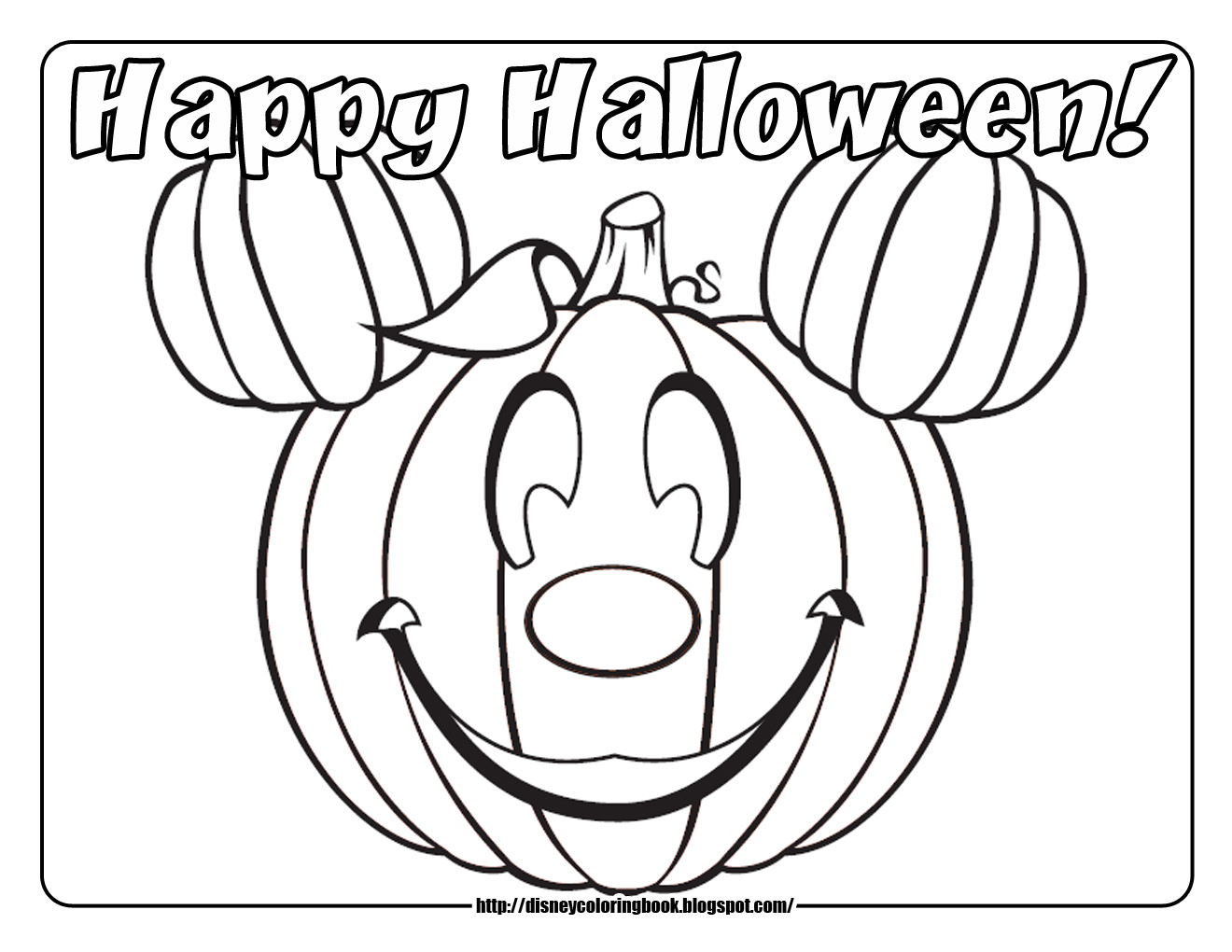 1320x1020 Halloween Coloring Page