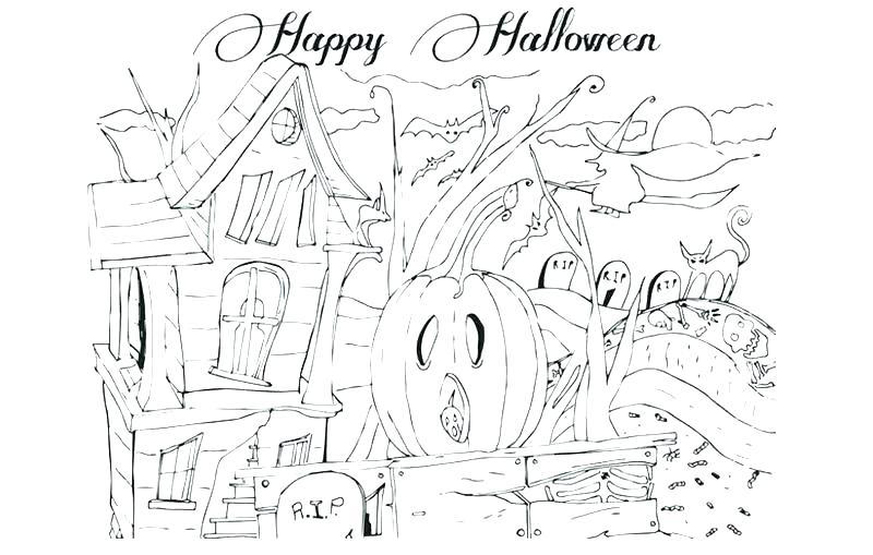 800x509 Happy Halloween Coloring Page Happy Pumpkin Coloring Page Happy