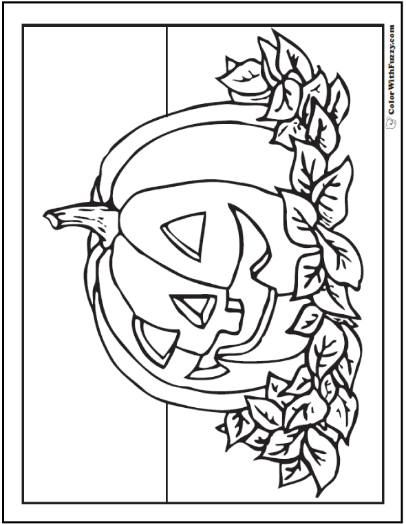 Happy Jack O Lantern Coloring Pages