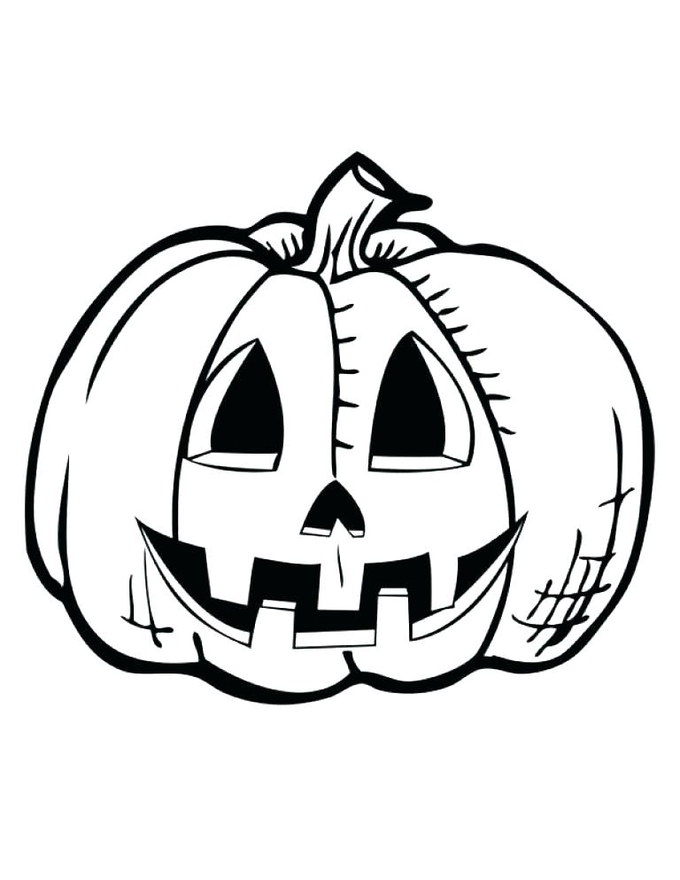 Happy Jack O Lantern Coloring Pages At Getdrawings Com