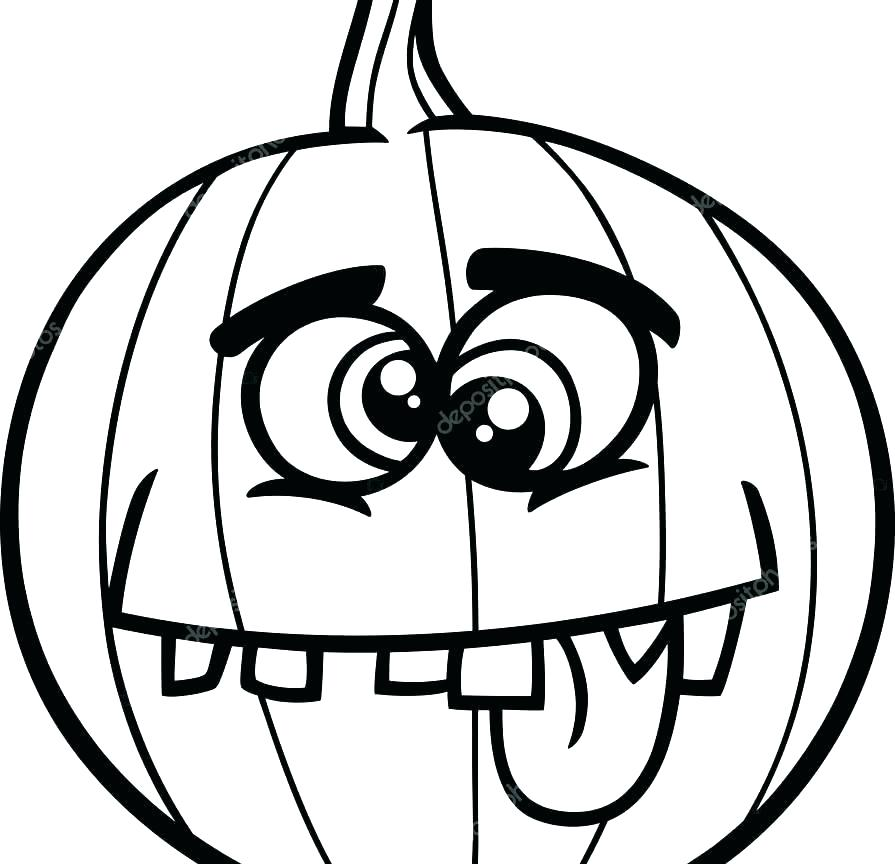 895x864 Jack O Lanterns Coloring Pages