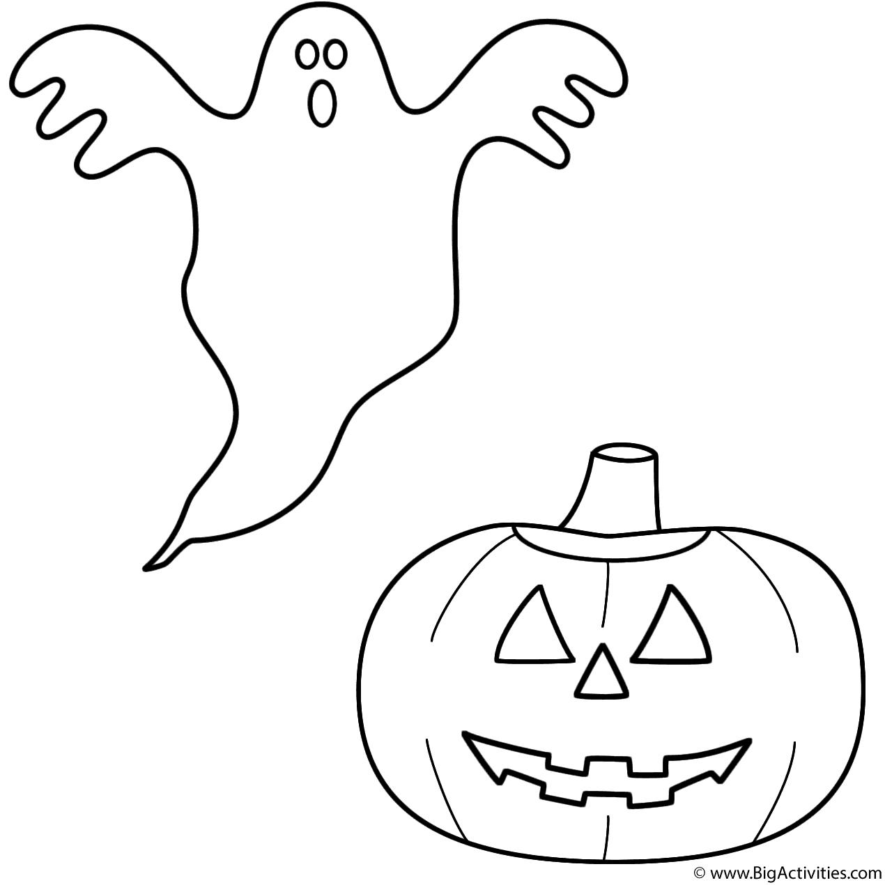 1270x1270 Ghost With Pumpkinjack O Lantern