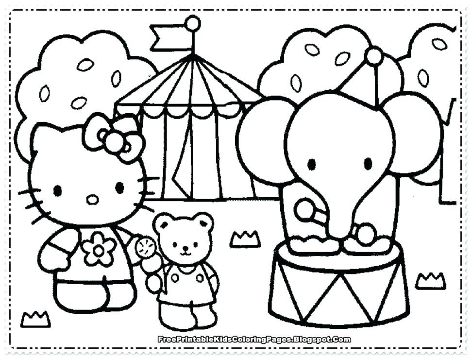 970x737 Hello Kitty Happy Birthday Coloring Sheets Kids Coloring Hello