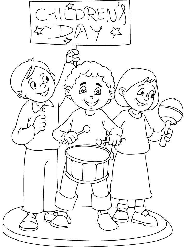 720x954 Printable Happy Children's Day Coloring Pages Ideas Para El