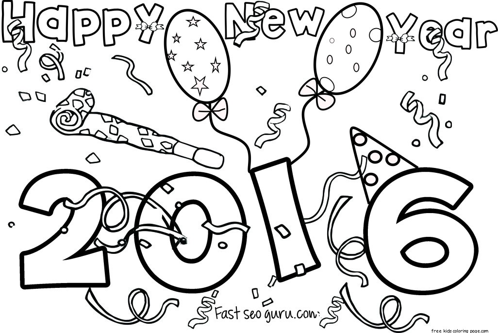 1026x686 Happy New Year Printable Coloring Pages