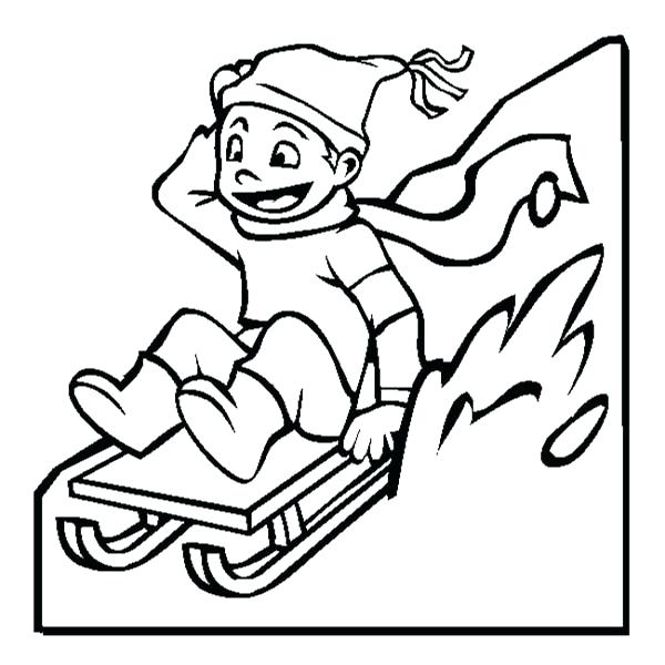 600x600 Winter Coloring Pages For Kids